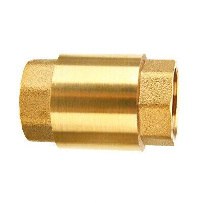 $6.43 • Buy 1/2'' NPT Brass Female Male Thread In Line Spring Vertical Check Valve One Way