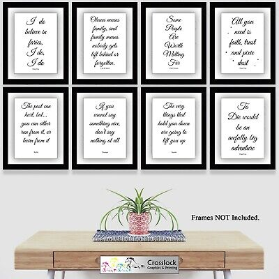 Disney Prints Film Quotes Typography Photo Poster Picture Print Wall Art A4 • 3.99£