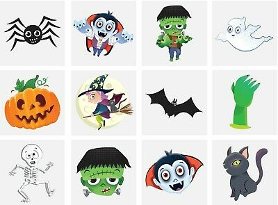 £1.59 • Buy 36 X Halloween Temporary Tattoos Kids Party Bag Filllers