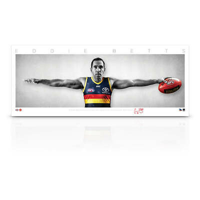 AU79 • Buy Eddie Betts Signed Adelaide Crows Mini Wings Official AFL Print ONLY BRAND NEW