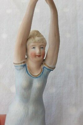 Fine German Porcelain Bisque China Figure A Bathing Beauty 19cms High • 119.99£