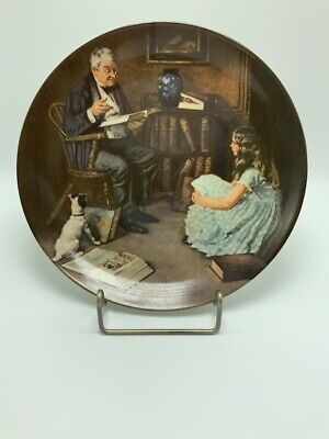 $ CDN25.18 • Buy Edwin Knowles The Storyteller Collectors Plate - Norman Rockwell