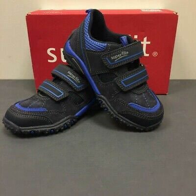 £21.95 • Buy SUPERFIT Sport 4 Boys Kids Navy Blue Leather & Fabric Trainers Shoes 200224-81
