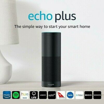 AU135 • Buy 2x Amazon Echo Plus First Generation Smart Assistant - Black