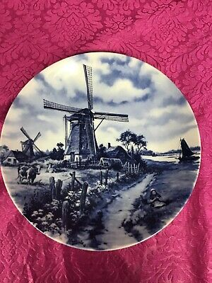 £14.99 • Buy Blue Delft Windmill Plate