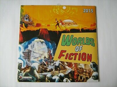 Worlds Of Fiction 2015 Calendar / 12 Science Fiction Prints Perfect To Frame • 4.99£
