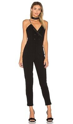 $80 • Buy Lovers + Friends Elsa Black Tuxedo Jumpsuit Revolve $190 NWT XS
