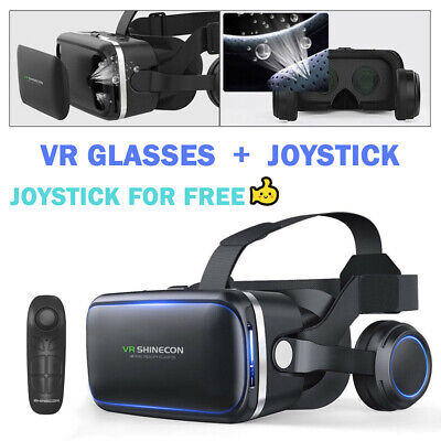 AU35.99 • Buy VR Headset BOX Virtual Reality Glasses 3D For Iphone 11 X 8 7 XR Samsung S9 S8