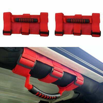 AU22.99 • Buy 2X Red Grab Handles Grip Handle Fit For Jeep Wrangler YJ TJ JK JKU Sports Sahara