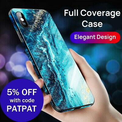 AU10.44 • Buy IPhone X XS Max XR Case Shockproof Tough Glass Marble Soft Cover For Apple