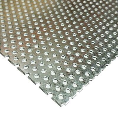 £19.81 • Buy Galvanized Steel Perforated Sheet 0.034  X 12  X 24 , 3/32  Holes