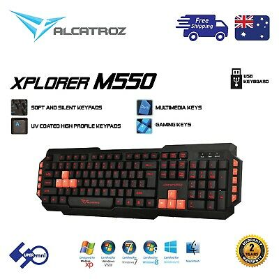AU16.90 • Buy Computer USB Wired Keyboard ALCATROZ Xplorer M550 For Office/Home