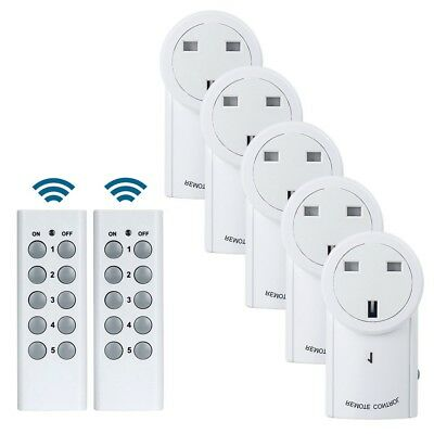 £9.87 • Buy Wireless Remote Control Sockets Programmable Electrical UK Plug Outlet Switch