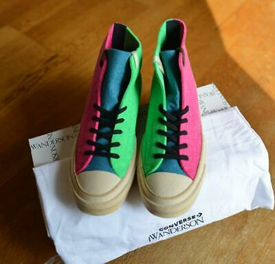$ CDN555.04 • Buy JW Anderson X CONVERSE Authentic Felt Material Pink Green Sneakers US 9.5 New
