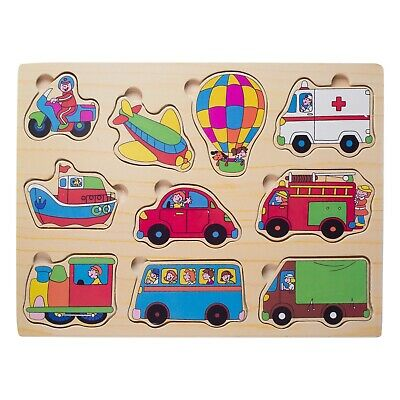 $ CDN9.19 • Buy Eliiti Wooden Vehicles Puzzle For Toddlers 2 To 4 Years Old Boys Toy