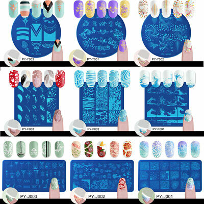 $1.19 • Buy BORN PRETTY Nail Art Stamping Plates Image Stamp Template Rectangle Square Round