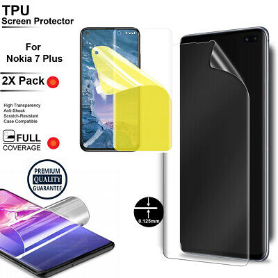 AU7.99 • Buy 2XTPU Scratch Resistance Full Cover Screen Protector Film For Nokia 7 Plus