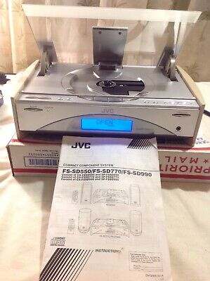 Player Only: JVC FS-SD550 Audio Mini Stereo System CD FM/AM Tuner W/ Manual • 54.95$