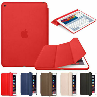 $11.39 • Buy For Apple IPad 6th 9.7  2018 Ultra Slim Genuine Leather Smart Cover Stand Case