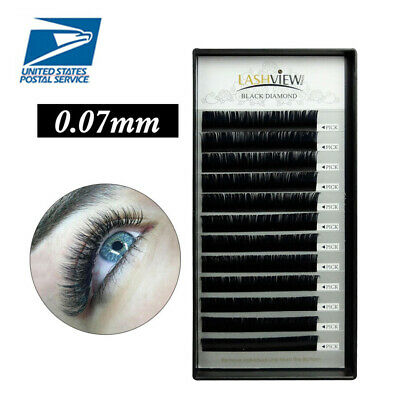AU9.99 • Buy Lashview 0.07mm C/D Individual Russian Volume Eyelash Extensions 3D Mink Lashes