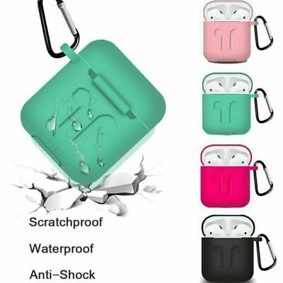 $ CDN1.62 • Buy Silicone Case Cover Earphones Holder Carabiner Buckle For Apple AirPods Case Hot