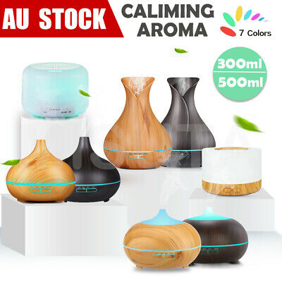 AU28.43 • Buy Aroma Aromatherapy Diffuser LED Essential Oil Ultrasonic Air Humidifier Purifier