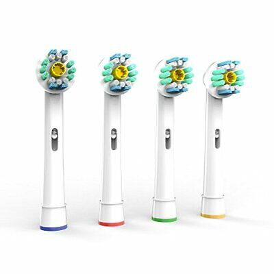 AU6.29 • Buy Pro White Oral B Compatible Electric Toothbrush Replacement Brush Heads X4pcs