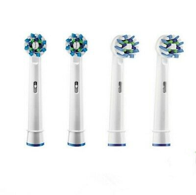 AU6.48 • Buy CROSS ACTION Oral B Compatible Electric Toothbrush Replacement Brush Heads X4