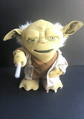 AU18.40 • Buy Star Wars 15 Inch Plush Talking / Moving Yoda With Lightsaber Toy