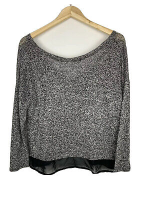 AU18 • Buy Pull And Bear Womens MEDIUM M Humper Grey Casual Polyester