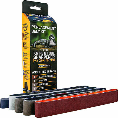 $14.95 • Buy Work Sharp Replacement Knife & Tool Sharpener Belt Kit - Ken Onion Ed. - 5 Pack