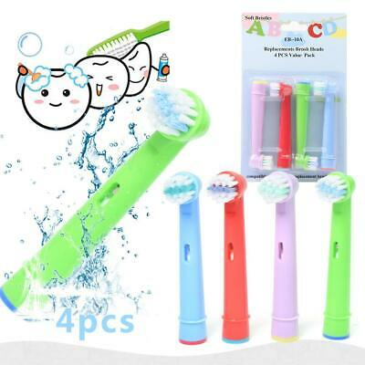 AU4.75 • Buy Children Kids Electric Toothbrush Heads Oral B Compatible Replacement Brush 4pcs
