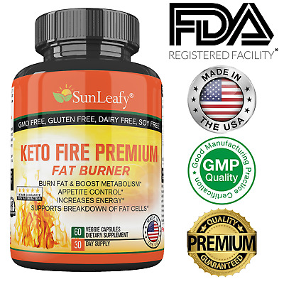 $17.98 • Buy Keto Fire Premium ✔Burn Fat ✔Appetite Control ✔Boost Metabolism Ketogenic Diet