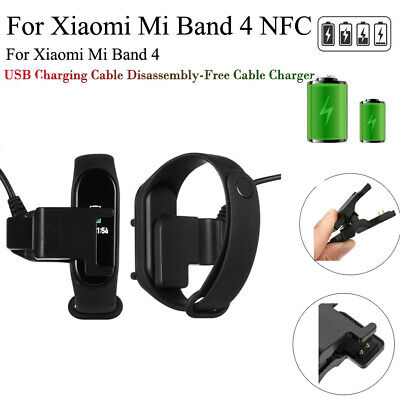 For Xiaomi Mi Band 4 NFC Fast USB Charging Cable Disassembly-Free Cable Charger • 1.39$