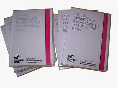 Storage Cases X 25 For Clear/craft Stamps And Other Craft Items - Dvd Style • 35.49£