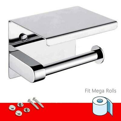 AU20.58 • Buy 304 Stainless Steel Toilet Paper Roll Holder With Phone Shelf Polished Chrome AU