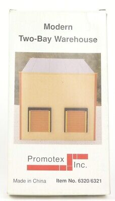 $ CDN26.75 • Buy Promotex HO Scale Trains 1:87 Scale Modern Two Bay Warehouse Building Kit 6321