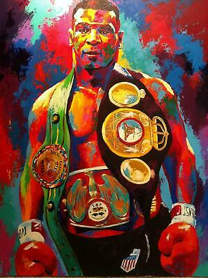 £10.95 • Buy Mike Tyson Boxing Legend Abstract Wall Art Print Image A3 A4 Size