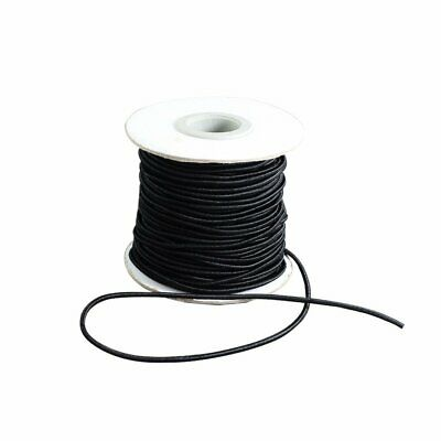 $ CDN24.93 • Buy 30~100m/roll 1.5~2mm Round Elastic Cord With Nylon Outside And Rubber Inside