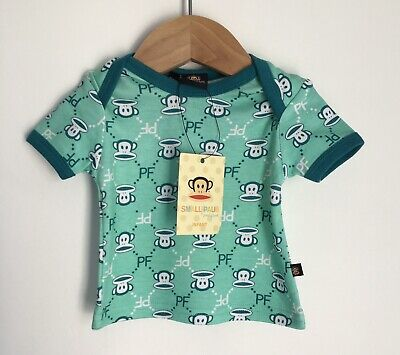 £9 • Buy Paul Frank Mint Green Monkey Face Baby T-Shirt BNWT Size 0-3 Months Tag 000