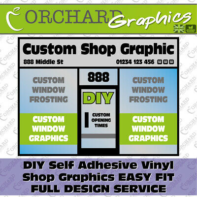 DIY Custom Shop Front Fascia Vinyl Graphic (Signs Name Decals Sign Writing) • 25£