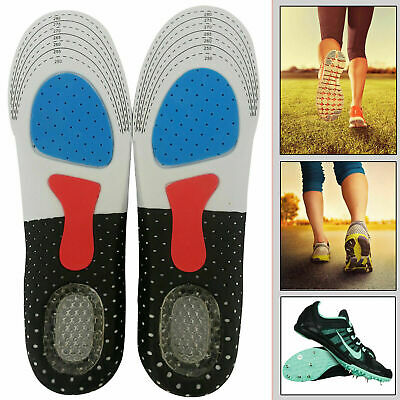 Unisex Orthotic Arch Support Insoles Sport Comfort Shoe Shock Absorb Gel Heel UK • 2.79£
