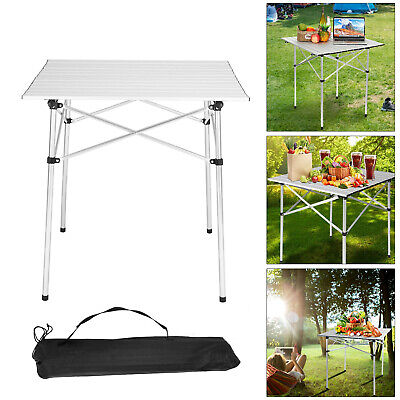 Portable Aluminum Table Folding Camping Desk Tray Outdoor Indoor Picnic W/ Bag • 22.99£