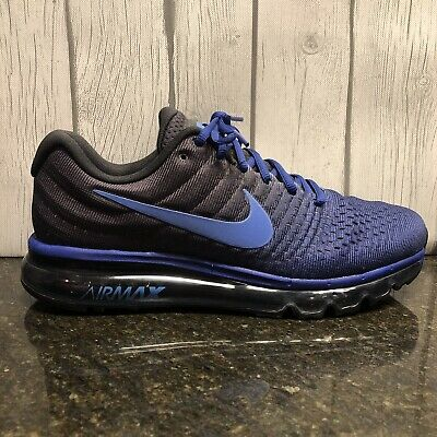 $109.99 • Buy Nike Air Max 2017 Deep Royal Blue Black 849559-401 Men's Running Shoes NEW!