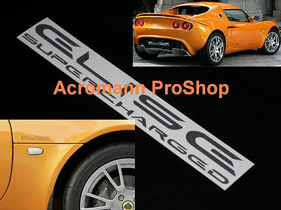$ CDN19.65 • Buy 2x 6  15.2cm Elise Supercharged Decal Sticker Lotus SC S R Sport Cup 111R S1 S2