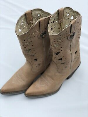 $75 • Buy Durango Women's Crush Heart Western Boot Beige Size 7