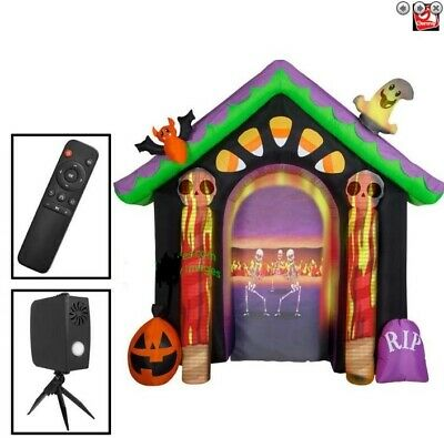$ CDN362.97 • Buy HALLOWEEN 9FT LIVING PROJECTION ARCHWAY ARCH Airblown Inflatable YARD DECORATION