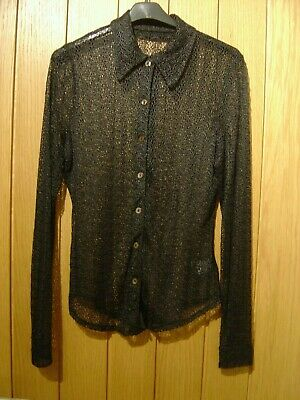 £3.99 • Buy CLEARANCE Next Black Sheer Blouse Size 10 (Ref Z) Ex Con