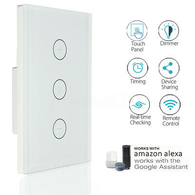AU21.29 • Buy AU Approved Smart WiFi Light Touch Switch Dimmer Wall Lamp For Google Home Alexa