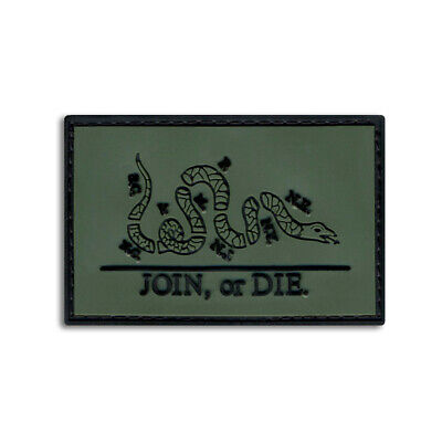 $7.49 • Buy Tactical Combat Military Morale Patch Badge PVC Hook And Loop - Join Or Die ODG
